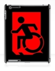 Accessible Exit Sign Project Wheelchair Wheelie Running Man Symbol Means of Egress Icon Disability Emergency Evacuation Fire Safety iPad Case 72