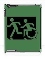 Accessible Exit Sign Project Wheelchair Wheelie Running Man Symbol Means of Egress Icon Disability Emergency Evacuation Fire Safety iPad Case 73