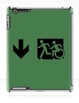 Accessible Exit Sign Project Wheelchair Wheelie Running Man Symbol Means of Egress Icon Disability Emergency Evacuation Fire Safety iPad Case 74