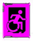 Accessible Exit Sign Project Wheelchair Wheelie Running Man Symbol Means of Egress Icon Disability Emergency Evacuation Fire Safety iPad Case 75