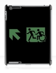 Accessible Exit Sign Project Wheelchair Wheelie Running Man Symbol Means of Egress Icon Disability Emergency Evacuation Fire Safety iPad Case 76