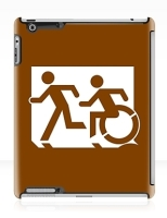 Accessible Exit Sign Project Wheelchair Wheelie Running Man Symbol Means of Egress Icon Disability Emergency Evacuation Fire Safety iPad Case 77