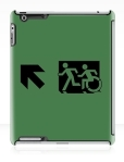 Accessible Exit Sign Project Wheelchair Wheelie Running Man Symbol Means of Egress Icon Disability Emergency Evacuation Fire Safety iPad Case 78