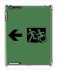 Accessible Exit Sign Project Wheelchair Wheelie Running Man Symbol Means of Egress Icon Disability Emergency Evacuation Fire Safety iPad Case 79