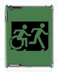 Accessible Exit Sign Project Wheelchair Wheelie Running Man Symbol Means of Egress Icon Disability Emergency Evacuation Fire Safety iPad Case 81