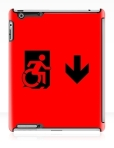 Accessible Exit Sign Project Wheelchair Wheelie Running Man Symbol Means of Egress Icon Disability Emergency Evacuation Fire Safety iPad Case 8