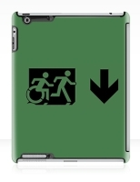 Accessible Exit Sign Project Wheelchair Wheelie Running Man Symbol Means of Egress Icon Disability Emergency Evacuation Fire Safety iPad Case 82