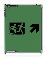 Accessible Exit Sign Project Wheelchair Wheelie Running Man Symbol Means of Egress Icon Disability Emergency Evacuation Fire Safety iPad Case 84