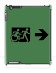 Accessible Exit Sign Project Wheelchair Wheelie Running Man Symbol Means of Egress Icon Disability Emergency Evacuation Fire Safety iPad Case 85