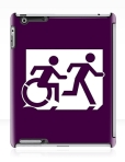 Accessible Exit Sign Project Wheelchair Wheelie Running Man Symbol Means of Egress Icon Disability Emergency Evacuation Fire Safety iPad Case 86