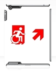 Accessible Exit Sign Project Wheelchair Wheelie Running Man Symbol Means of Egress Icon Disability Emergency Evacuation Fire Safety iPad Case 87