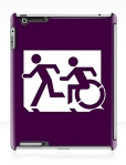 Accessible Exit Sign Project Wheelchair Wheelie Running Man Symbol Means of Egress Icon Disability Emergency Evacuation Fire Safety iPad Case 88