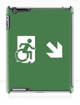 Accessible Exit Sign Project Wheelchair Wheelie Running Man Symbol Means of Egress Icon Disability Emergency Evacuation Fire Safety iPad Case 89