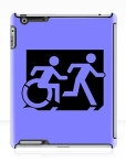 Accessible Exit Sign Project Wheelchair Wheelie Running Man Symbol Means of Egress Icon Disability Emergency Evacuation Fire Safety iPad Case 9