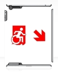 Accessible Exit Sign Project Wheelchair Wheelie Running Man Symbol Means of Egress Icon Disability Emergency Evacuation Fire Safety iPad Case 91