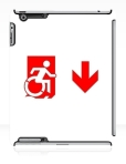 Accessible Exit Sign Project Wheelchair Wheelie Running Man Symbol Means of Egress Icon Disability Emergency Evacuation Fire Safety iPad Case 92