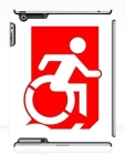 Accessible Exit Sign Project Wheelchair Wheelie Running Man Symbol Means of Egress Icon Disability Emergency Evacuation Fire Safety iPad Case 93