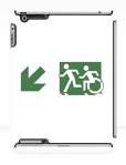 Accessible Exit Sign Project Wheelchair Wheelie Running Man Symbol Means of Egress Icon Disability Emergency Evacuation Fire Safety iPad Case 95