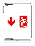 Accessible Exit Sign Project Wheelchair Wheelie Running Man Symbol Means of Egress Icon Disability Emergency Evacuation Fire Safety iPad Case 98