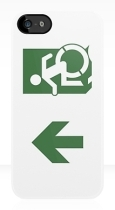 Accessible Exit Sign Project Wheelchair Wheelie Running Man Symbol Means of Egress Icon Disability Emergency Evacuation Fire Safety iPhone Case 100