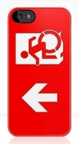 Accessible Exit Sign Project Wheelchair Wheelie Running Man Symbol Means of Egress Icon Disability Emergency Evacuation Fire Safety iPhone Case 10
