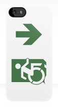 Accessible Exit Sign Project Wheelchair Wheelie Running Man Symbol Means of Egress Icon Disability Emergency Evacuation Fire Safety iPhone Case 102