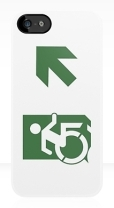 Accessible Exit Sign Project Wheelchair Wheelie Running Man Symbol Means of Egress Icon Disability Emergency Evacuation Fire Safety iPhone Case 104