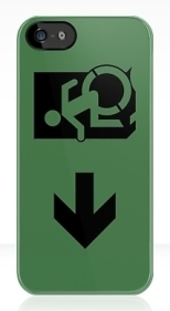 Accessible Exit Sign Project Wheelchair Wheelie Running Man Symbol Means of Egress Icon Disability Emergency Evacuation Fire Safety iPhone Case 107
