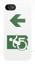 Accessible Exit Sign Project Wheelchair Wheelie Running Man Symbol Means of Egress Icon Disability Emergency Evacuation Fire Safety iPhone Case 109