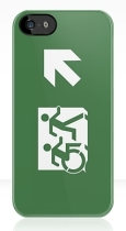 Accessible Exit Sign Project Wheelchair Wheelie Running Man Symbol Means of Egress Icon Disability Emergency Evacuation Fire Safety iPhone Case 11