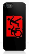 Accessible Exit Sign Project Wheelchair Wheelie Running Man Symbol Means of Egress Icon Disability Emergency Evacuation Fire Safety iPhone Case 111