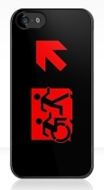 Accessible Exit Sign Project Wheelchair Wheelie Running Man Symbol Means of Egress Icon Disability Emergency Evacuation Fire Safety iPhone Case 113