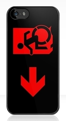 Accessible Exit Sign Project Wheelchair Wheelie Running Man Symbol Means of Egress Icon Disability Emergency Evacuation Fire Safety iPhone Case 114