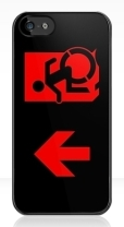 Accessible Exit Sign Project Wheelchair Wheelie Running Man Symbol Means of Egress Icon Disability Emergency Evacuation Fire Safety iPhone Case 115