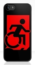 Accessible Exit Sign Project Wheelchair Wheelie Running Man Symbol Means of Egress Icon Disability Emergency Evacuation Fire Safety iPhone Case 116