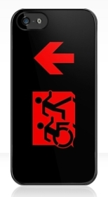 Accessible Exit Sign Project Wheelchair Wheelie Running Man Symbol Means of Egress Icon Disability Emergency Evacuation Fire Safety iPhone Case 117