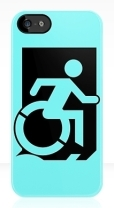 Accessible Exit Sign Project Wheelchair Wheelie Running Man Symbol Means of Egress Icon Disability Emergency Evacuation Fire Safety iPhone Case 119
