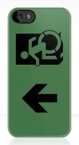Accessible Exit Sign Project Wheelchair Wheelie Running Man Symbol Means of Egress Icon Disability Emergency Evacuation Fire Safety iPhone Case 120