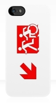 Accessible Exit Sign Project Wheelchair Wheelie Running Man Symbol Means of Egress Icon Disability Emergency Evacuation Fire Safety iPhone Case 121