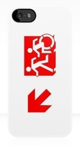 Accessible Exit Sign Project Wheelchair Wheelie Running Man Symbol Means of Egress Icon Disability Emergency Evacuation Fire Safety iPhone Case 122