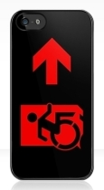 Accessible Exit Sign Project Wheelchair Wheelie Running Man Symbol Means of Egress Icon Disability Emergency Evacuation Fire Safety iPhone Case 123