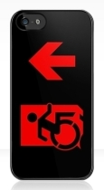 Accessible Exit Sign Project Wheelchair Wheelie Running Man Symbol Means of Egress Icon Disability Emergency Evacuation Fire Safety iPhone Case 124