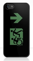 Accessible Exit Sign Project Wheelchair Wheelie Running Man Symbol Means of Egress Icon Disability Emergency Evacuation Fire Safety iPhone Case 126