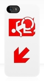 Accessible Exit Sign Project Wheelchair Wheelie Running Man Symbol Means of Egress Icon Disability Emergency Evacuation Fire Safety iPhone Case 128