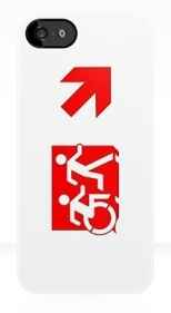 Accessible Exit Sign Project Wheelchair Wheelie Running Man Symbol Means of Egress Icon Disability Emergency Evacuation Fire Safety iPhone Case 129