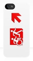 Accessible Exit Sign Project Wheelchair Wheelie Running Man Symbol Means of Egress Icon Disability Emergency Evacuation Fire Safety iPhone Case 130