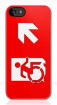 Accessible Exit Sign Project Wheelchair Wheelie Running Man Symbol Means of Egress Icon Disability Emergency Evacuation Fire Safety iPhone Case 13