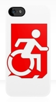 Accessible Exit Sign Project Wheelchair Wheelie Running Man Symbol Means of Egress Icon Disability Emergency Evacuation Fire Safety iPhone Case 131