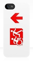 Accessible Exit Sign Project Wheelchair Wheelie Running Man Symbol Means of Egress Icon Disability Emergency Evacuation Fire Safety iPhone Case 132