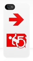 Accessible Exit Sign Project Wheelchair Wheelie Running Man Symbol Means of Egress Icon Disability Emergency Evacuation Fire Safety iPhone Case 136